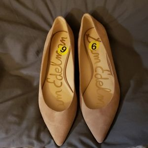 NWT size 9 Sam Edelman flats suede/leather